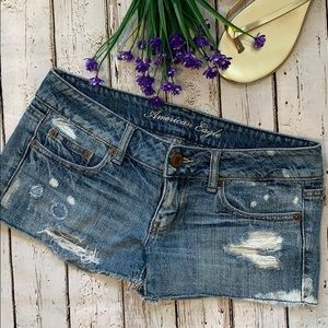 American Eagle jean ripped shorts size 2